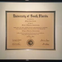 1991 USF BS Michael S Novilla Diploma