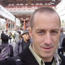 2006 04-01 Michael S Novilla in Kyoto Japan with shaved head