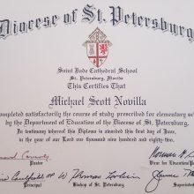 1982 06-01 St Judes Diploma Michael S Novilla